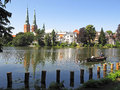 Lubeck waterfront idyllic waterfron of germany Royalty Free Stock Images