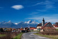 Lubica town near kezmarok under high tatras Stock Image