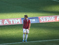 Lucas biglia the argentine footballer during warm up before the football match lazio livorno the italian football championship Royalty Free Stock Photos