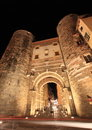 Lucca gate at night Royalty Free Stock Photo