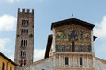 Lucca san frediano church th century ascension mosaic by berlinghieri Stock Photos