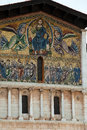 Lucca san frediano church th century ascension mosaic by berlinghieri Stock Photography