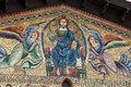 Lucca san frediano church th century ascension mosaic by berlinghieri Royalty Free Stock Photography