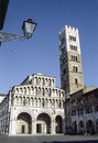 Lucca tuscany italy the cathedral in a sunny summer day Stock Photography
