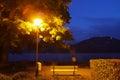 Lucerne lakeside night Stock Image