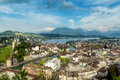Lucerne, Switzerland. Aerial view of the old town, Lucerne city Royalty Free Stock Photo