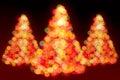 Luces de los árboles de navidad Fotos de archivo libres de regalías