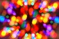 Luces del Navidad-árbol Fotografía de archivo libre de regalías