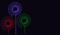 Luces espirales abstractas Imagenes de archivo