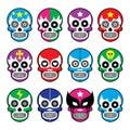 Lucha Libre - sugar skull masks icons
