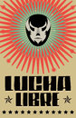 Lucha libre wrestling spanish text mexican wrestler mask poster eps available Royalty Free Stock Photography