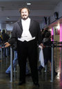 Luciano pavarotti realistic wax statue in madame tussauds museum in london uk Royalty Free Stock Photos