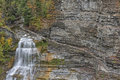 Lucifer falls at the robert h treman state park in new york Royalty Free Stock Images