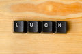 Luck word Royalty Free Stock Photo