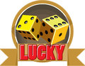 Lucky bonce an illustration of abstract emblem of game Stock Image