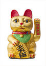 The Lucky Cat - Maneki Neko holding a Koban coin Royalty Free Stock Photography