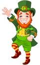 Lucky dancing leprechaun full length drawing of a a jig Stock Photo