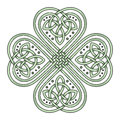 Lucky four leaf clover in the Celtic style