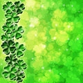 Lucky Four Leaf Clover Shamrock Blur Background