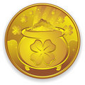 Lucky Gold Coin Royalty Free Stock Photo