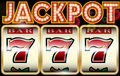 Lucky seven jackpot Royalty Free Stock Photo