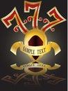 Lucky seven,slot 777 Royalty Free Stock Photo