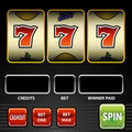Lucky Seven Slot Machine Royalty Free Stock Photo