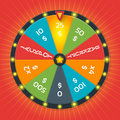 Lucky wheel vector template. Color with money amount Royalty Free Stock Photo