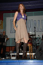 Lucy lawless performing with her band paperback hero universal citywalk universal city ca Royalty Free Stock Image