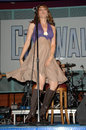 Lucy lawless performing with her band paperback hero universal citywalk universal city ca Royalty Free Stock Photo