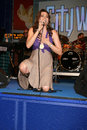Lucy lawless performs at universal citywalk s summer block party in universal city ca on june Royalty Free Stock Photography