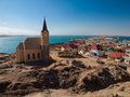 Luderitz general view with church namibia Stock Photo