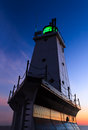 Ludington Lighthouse Afterglow Stock Photography