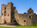 Ludlow castle england entrance to shropshire Stock Image