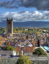 Ludlow the historic market town of showing st laurence church shropshire england Stock Images