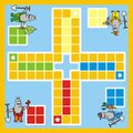 Ludo mole a game for children pictures moles Stock Photography