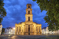 Ludwigskirche -  a baroque style church in Saarbrucken Royalty Free Stock Photo