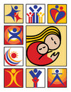Ludzie ikona logo Zdjęcie Stock