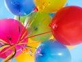 Luft sväller färgrikt Arkivfoton