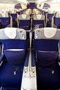Lufthansa A380 Business class 3 Royalty Free Stock Photos