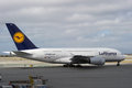 Lufthansa Airbus A380 Photo stock