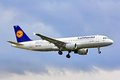 Lufthansa airbus a berlin germany august arrives at the tegel international airport Stock Photography