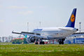 Lufthansa airbus a d ailp take off ukraine boryspil international airport may Royalty Free Stock Image