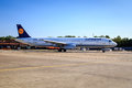 Lufthansa a airbus is taxiing at tegel airport berlin germany Stock Photography