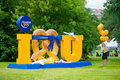 Lufthansa moscow june makes a promotion campaign on xii international jazz festival usadba jazz in tsaritsyno park on june in Royalty Free Stock Photos