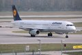 Lufthansa a munich germany april airbus taxies after landing at munich international airport in germany group carried Stock Photo