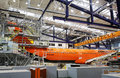 Lufthansa technik sofia bulgaria october a airplane is being repaired in s hangar near the airport Stock Images