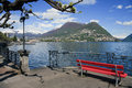 Lugano lake Stock Images