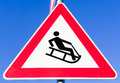 Luge warning sign Royalty Free Stock Photography