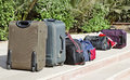 Luggage bags packed check out Royalty Free Stock Photo